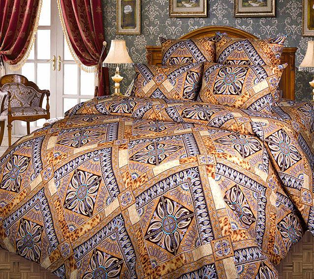 """цена на Постельное белье """"Персия"""" коричневый (бязь) (1,5 спальный)"""