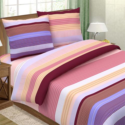 """Постельное белье """"Лазурный"""" розовый (поплин) (2 спальный с Евро простынёй) постельное белье экзотика 555 комплект 2 спальный поплин"""