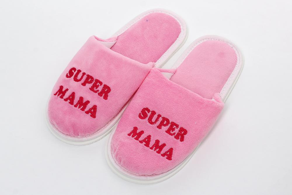 """Тапки женские """"Super мама"""" от Grandstock"""