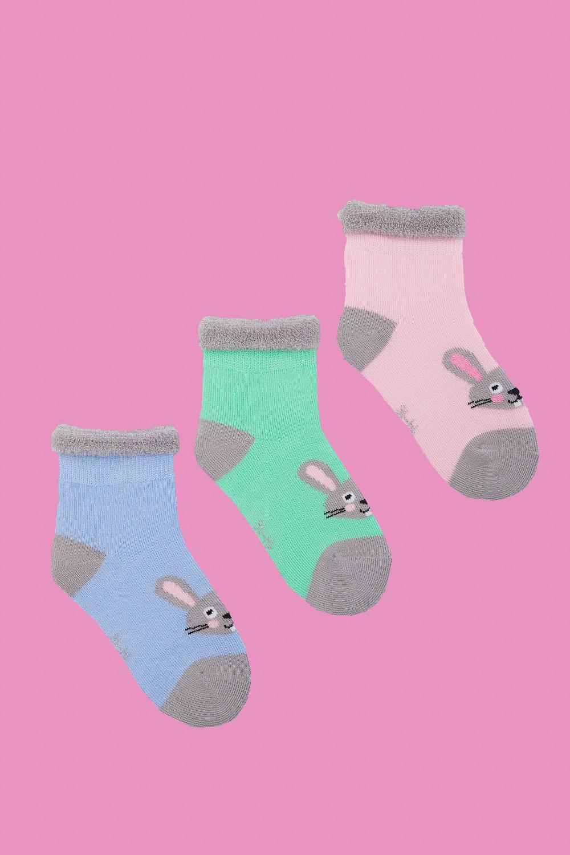 белье acoola носки детские 3 пары цвет ассорти размер 14 16 32224420039 Носки детские Кролик (упаковка 3 пары) (14-16)