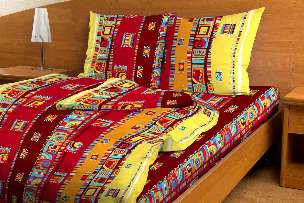 """Постельное белье """"Мексика красный GS"""" (бязь) 2 спальный"""