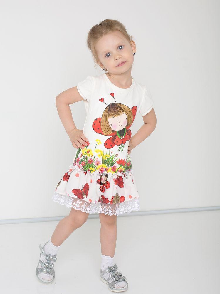 """Платье детское """"Лужайка"""" 32"""