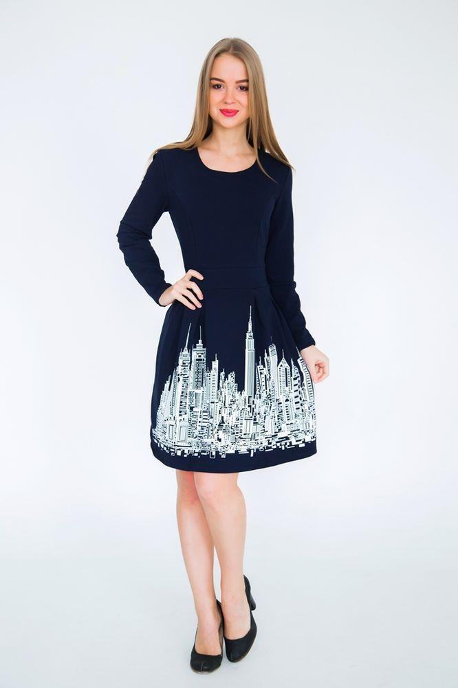 Купить Платье женское Джэйрони 46, Грандсток, Футер, Весна - осень