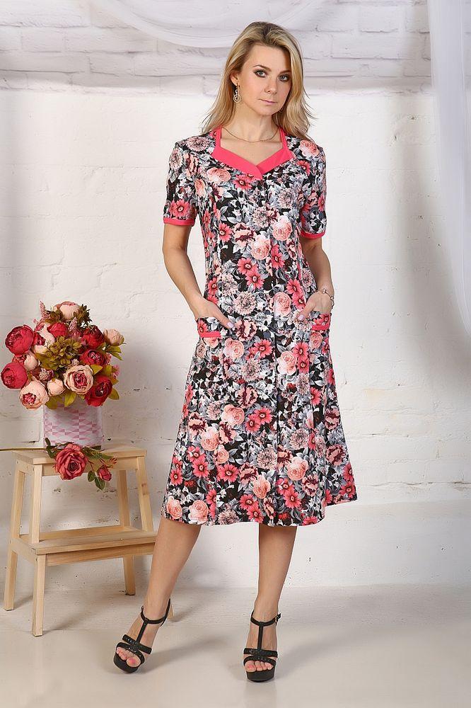 Халат женский #Джессалин#, Размер: 54 - Халаты - Легкие халаты