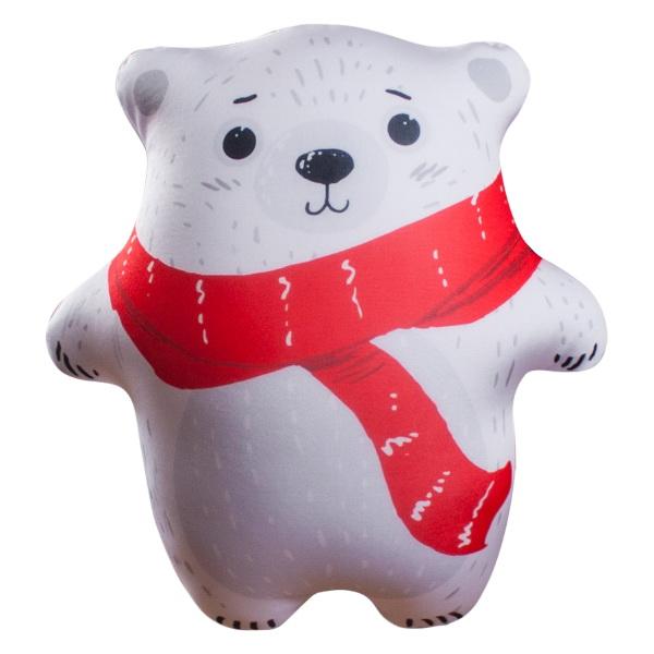 Антистрессовая игрушка Мишка-топтыжка белый (28x25) игрушка пирамидка мишка топтыжка