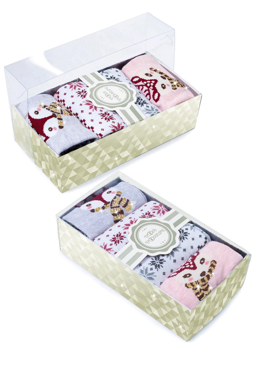 Носки женские Северянка (упаковка 4 пары) (23-25) носки женские акцент упаковка 6 пар 23 25