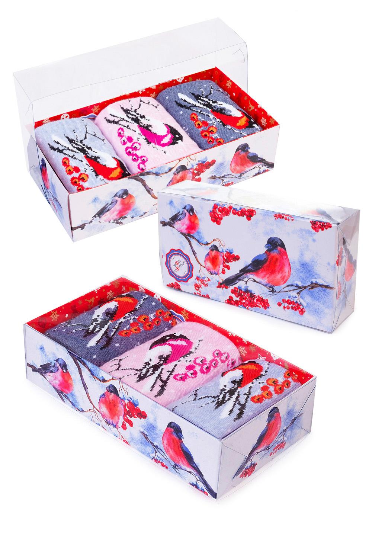 Носки женские Снегири (упаковка 3 пары) (23-25) носки женские oodji цвет разноцветный 3 пары 57102602t3 48022 5 размер 35 37