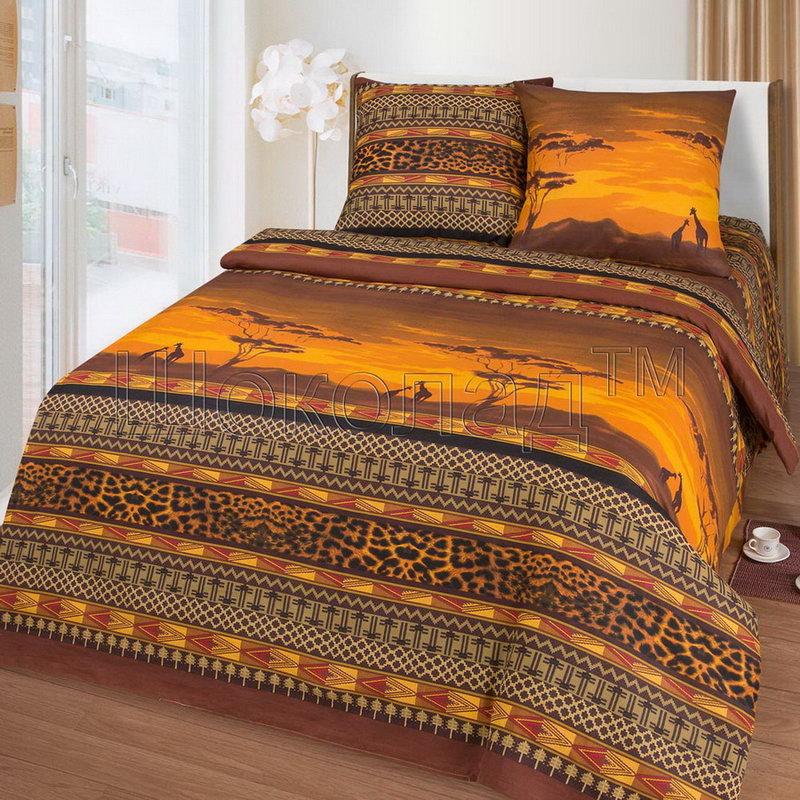 """Постельное белье """"Кения"""" (бязь) 2 спальный с Евро простынёй"""
