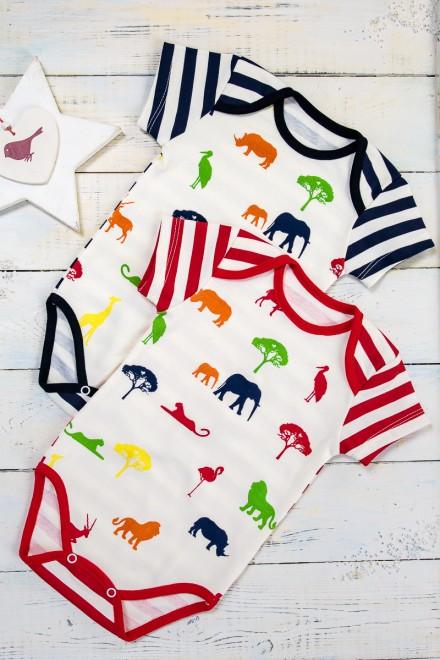 Боди детское Happy Zoo (короткий рукав)