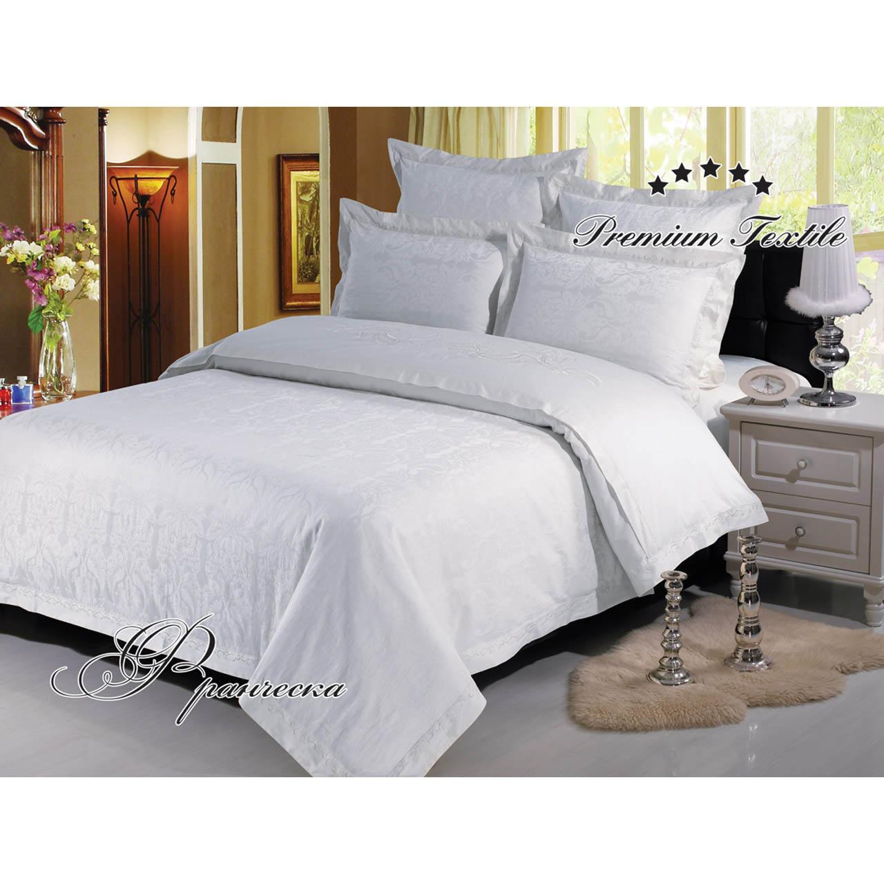 """все цены на Постельное белье """"Франческа белый"""" (сатин) (2 спальный с Евро простынёй) онлайн"""