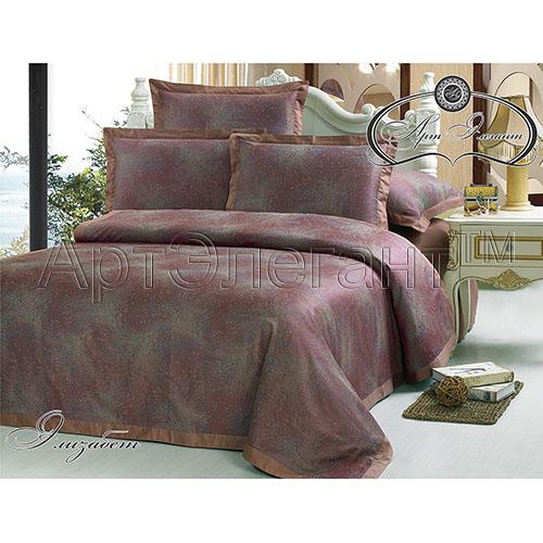 Постельное белье Элизабет (сатин-жаккард) (2 спальный с Евро простынёй) ecotex постельное белье элизабет