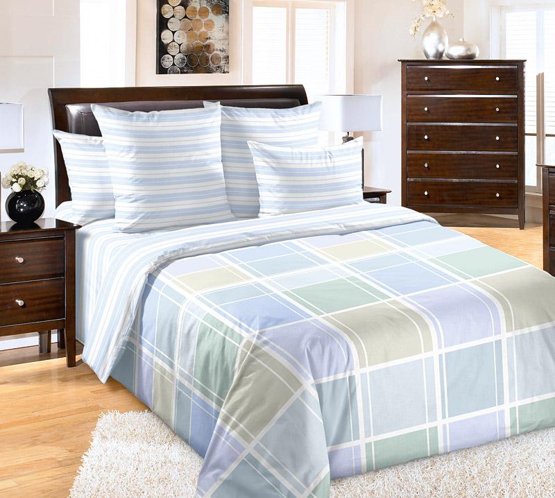 Постельное белье Грани (перкаль) (1,5 спальный) постельное белье унисон россини 15375 1 15376 1 комплект 2 спальный перкаль 450154