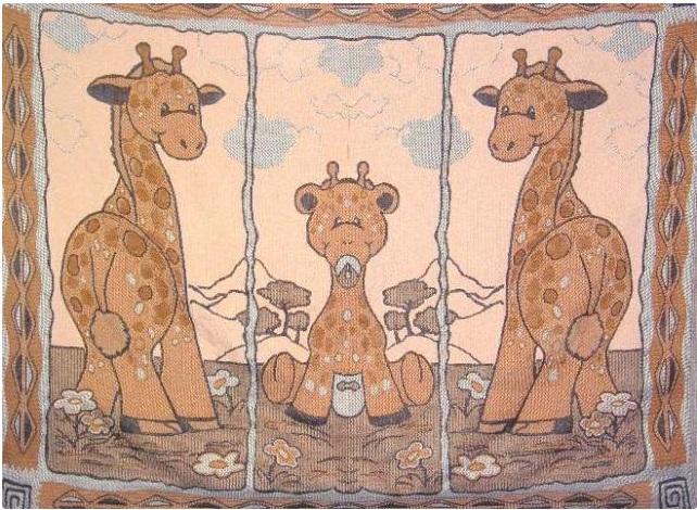 Покрывало Жирафики (полухлопок) (100х140) покрывало тигрята полухлопок 120х150