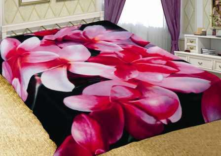 """Плед """"Орхидеи"""" (флис) 150х200"""