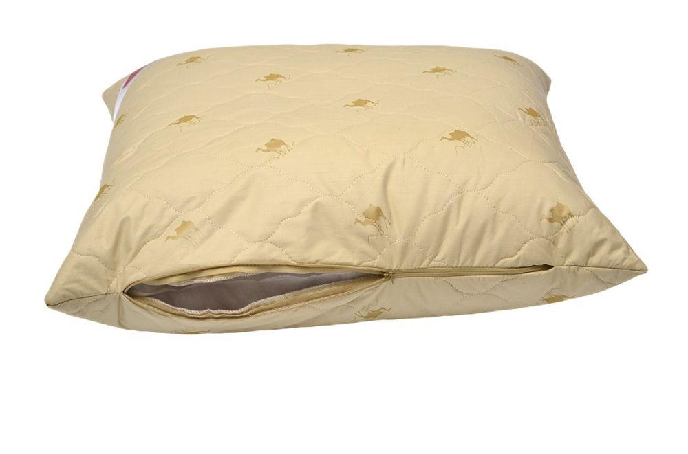 Подушка на молнии Стандарт (верблюжья шерсть, тик) (50*70) подушки sova and javoronok подушка 70 70 верблюжья шерсть