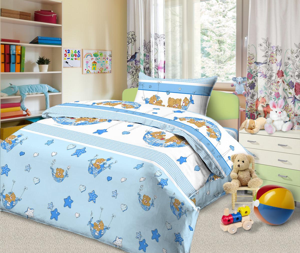 Постельное белье Мишкин сон (бязь) (Ясельный) постельное белье неон синий бязь ясельный