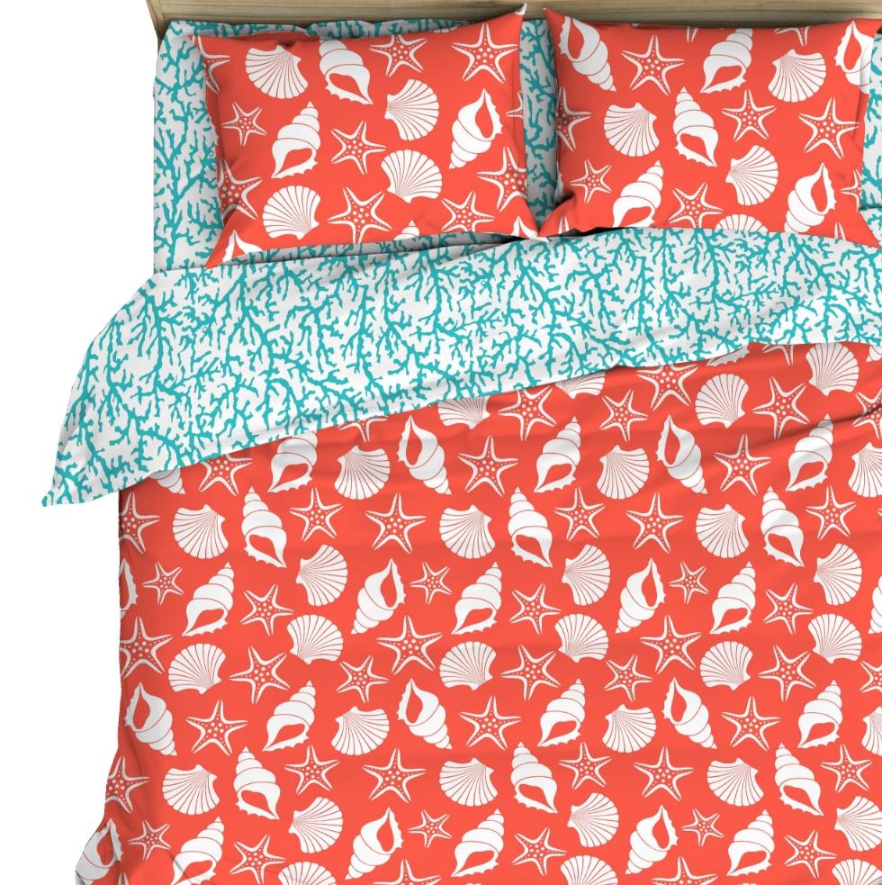 Постельное белье Кораллы (бязь) (1,5 спальный)