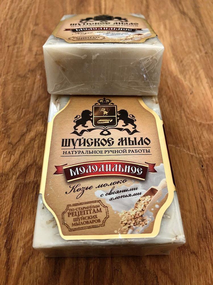 """Мыло шуйское """"Козье молоко с овсяными хлопьями"""" от Grandstock"""