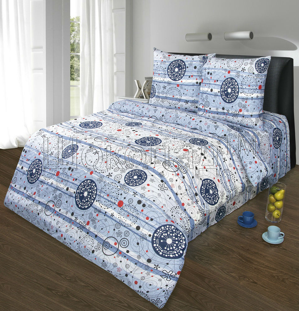 """Постельное белье """"Увертюра"""" (бязь) 2 спальный с Евро простынёй"""