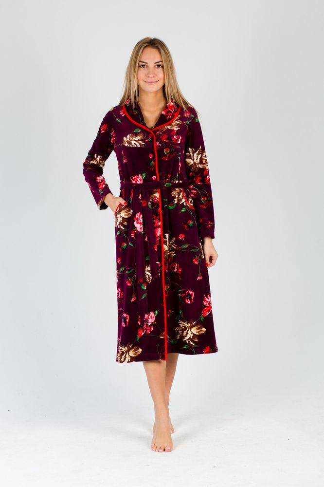 Халат женский #Латриса# 56, Размер: 56 - Халаты - Теплые халаты