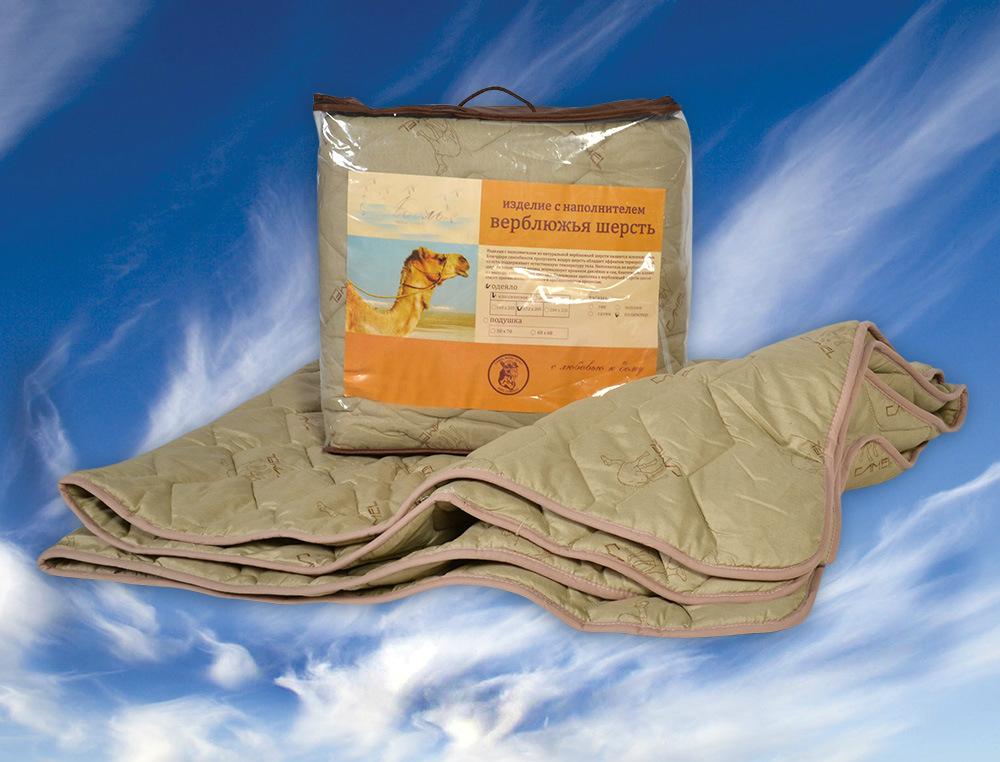 """Одеяло облегченное """"Идеал"""" (верблюжья шерсть, полиэстер) 2 спальный (172*205)"""