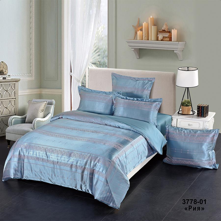 Фото - Постельное белье iv74687 (сатин-жаккард) (2 спальный с Евро простынёй) постельное белье iv69910 сатин жаккард 2 спальный с евро простынёй