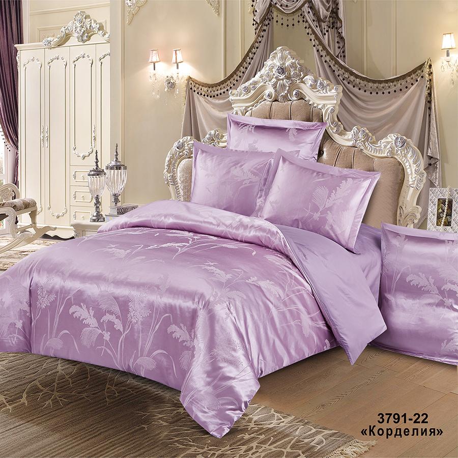 Фото - Постельное белье iv74689 (сатин-жаккард) (2 спальный с Евро простынёй) постельное белье iv69910 сатин жаккард 2 спальный с евро простынёй