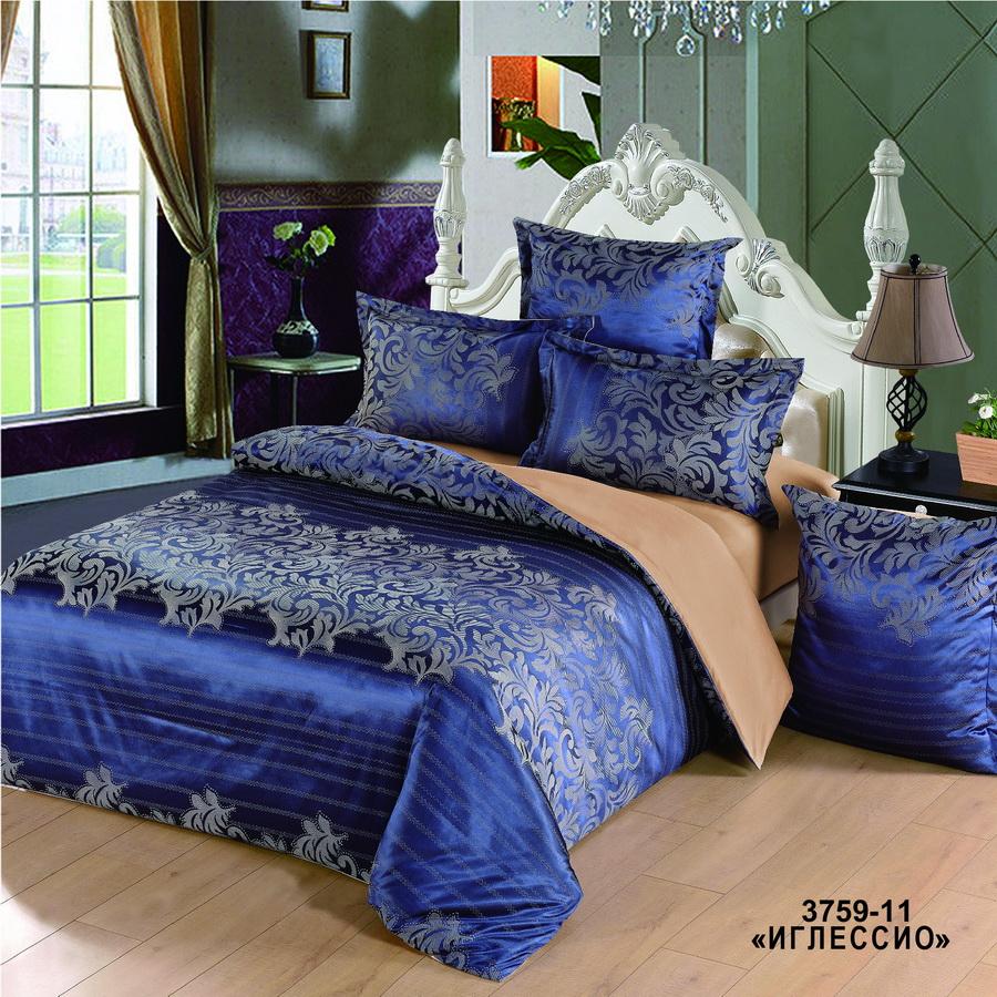 Фото - Постельное белье iv74695 (сатин-жаккард) (2 спальный с Евро простынёй) постельное белье iv69910 сатин жаккард 2 спальный с евро простынёй