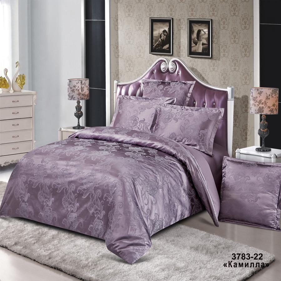 Фото - Постельное белье iv74697 (сатин-жаккард) (2 спальный с Евро простынёй) постельное белье iv69910 сатин жаккард 2 спальный с евро простынёй