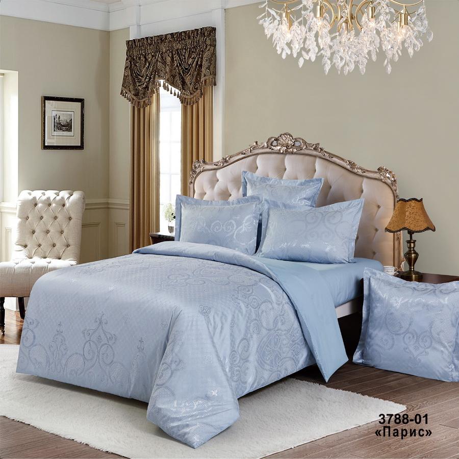 Фото - Постельное белье iv74700 (сатин-жаккард) (2 спальный с Евро простынёй) постельное белье iv69910 сатин жаккард 2 спальный с евро простынёй