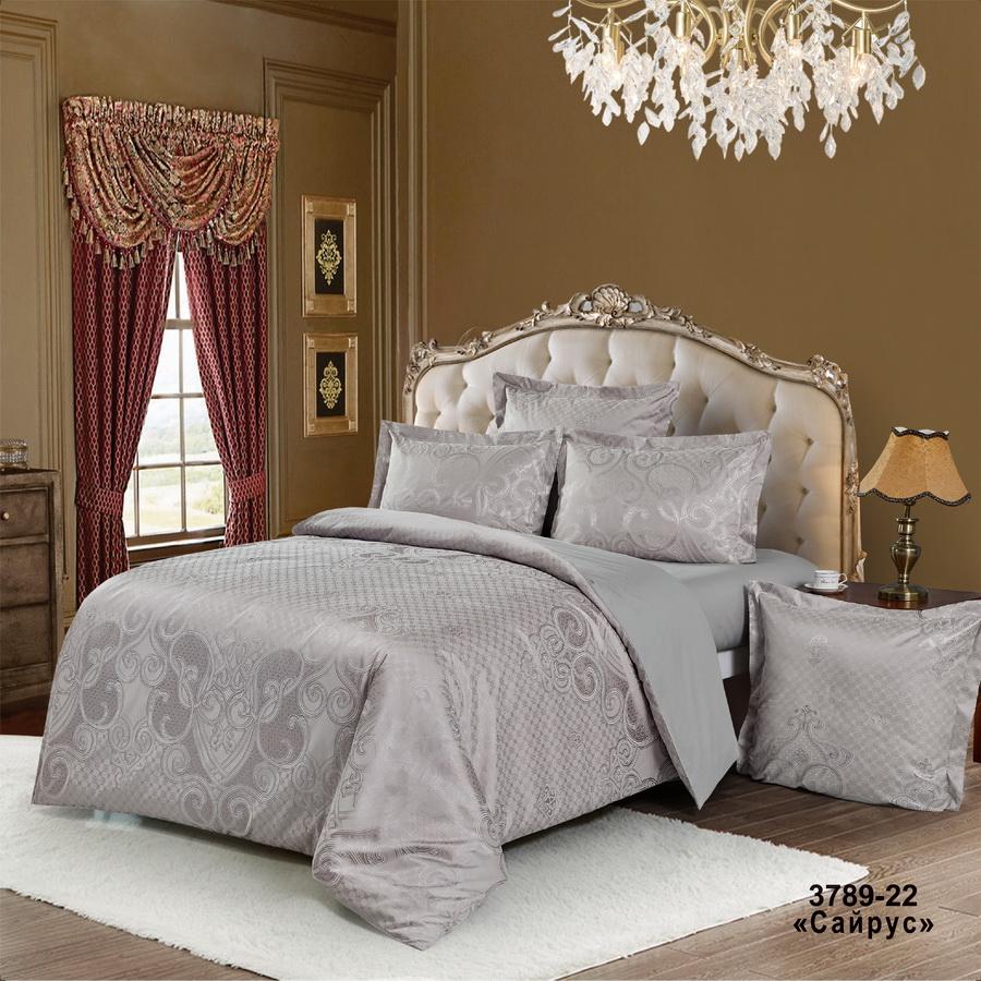 Фото - Постельное белье iv74701 (сатин-жаккард) (2 спальный с Евро простынёй) постельное белье iv69910 сатин жаккард 2 спальный с евро простынёй