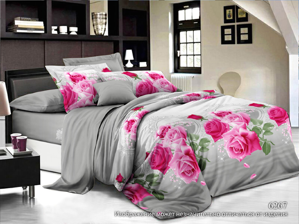 Постельное белье Розетта (полисатин) (2 спальный) постельное белье cleo кпб полисатин 246 1 5 спальный