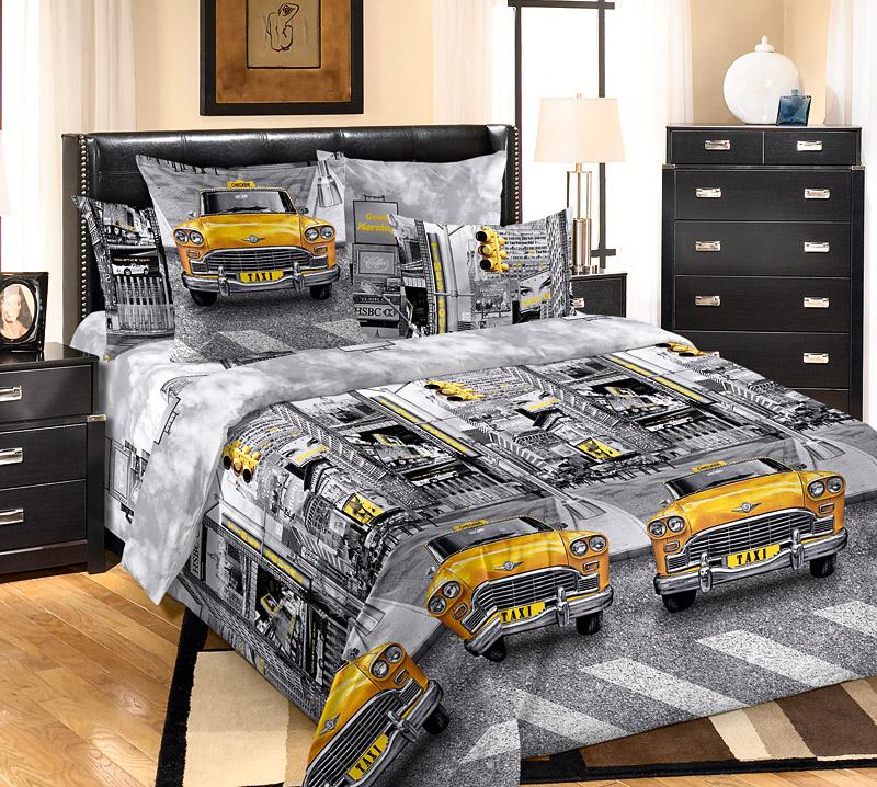 """Постельное бельё """"Такси"""" (бязь) 2 спальный"""
