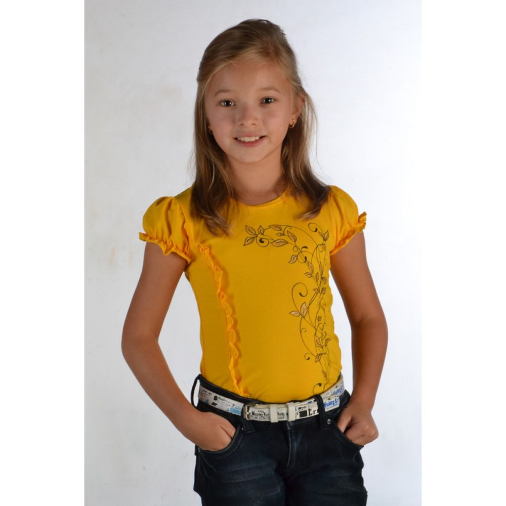 Блузка для девочки Рюша