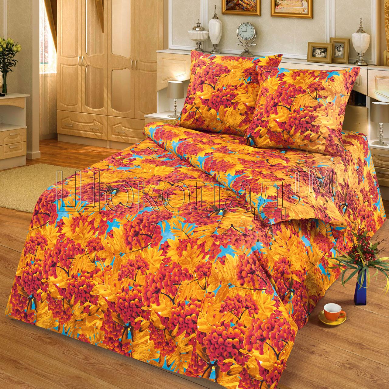 Фото - Постельное белье Осень золотая (бязь) (1,5 спальный) постельное белье этель кружева комплект 2 спальный поплин 2670978