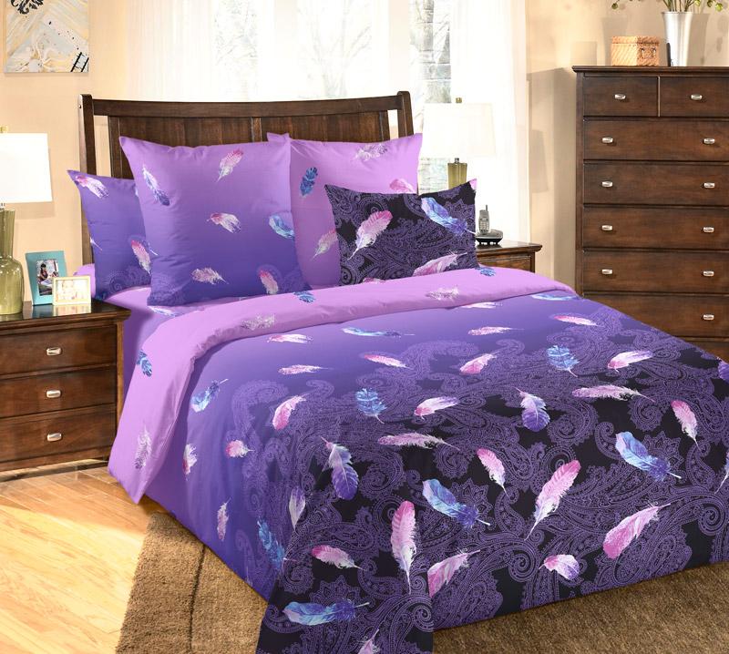Постельное белье Дуновение сиреневое (бязь) (2 спальный) постельное белье wenge sanremo 11791 1 11792 1 комплект 2 спальный бязь 516377