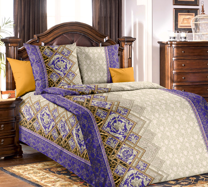 Постельное белье iv47299 фиолетовое (бязь) (1,5 спальный)