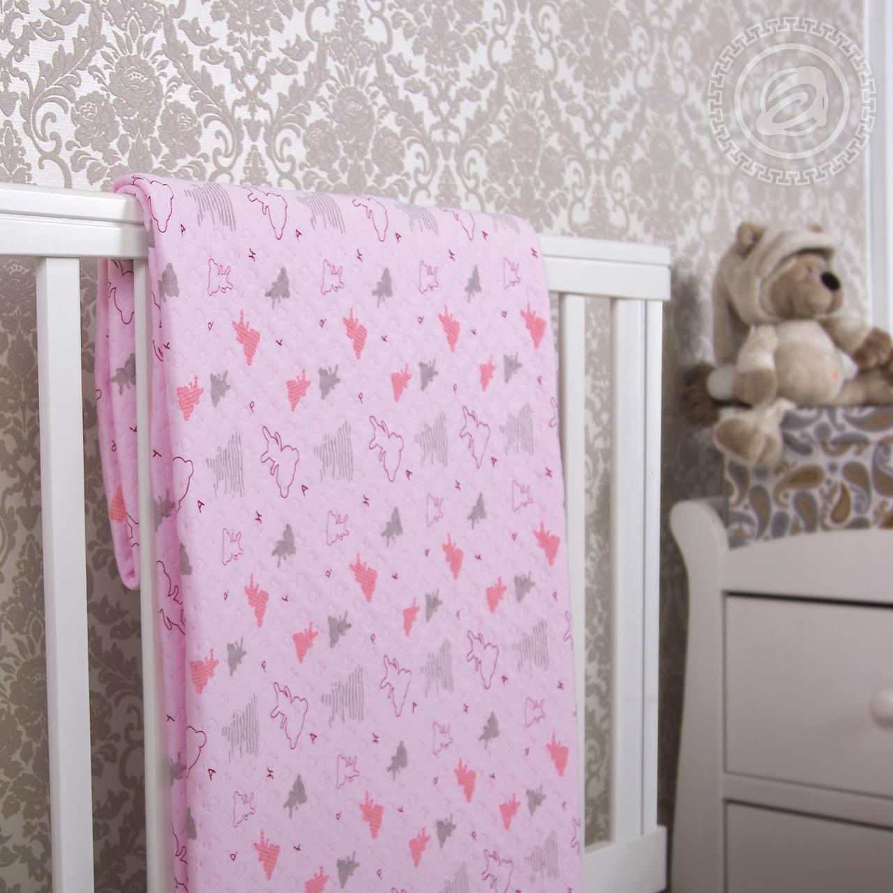 """Покрывало """"Мишки-малышки розовый"""" (трикотаж) (100х140) покрывало ренессанс р 100х140"""
