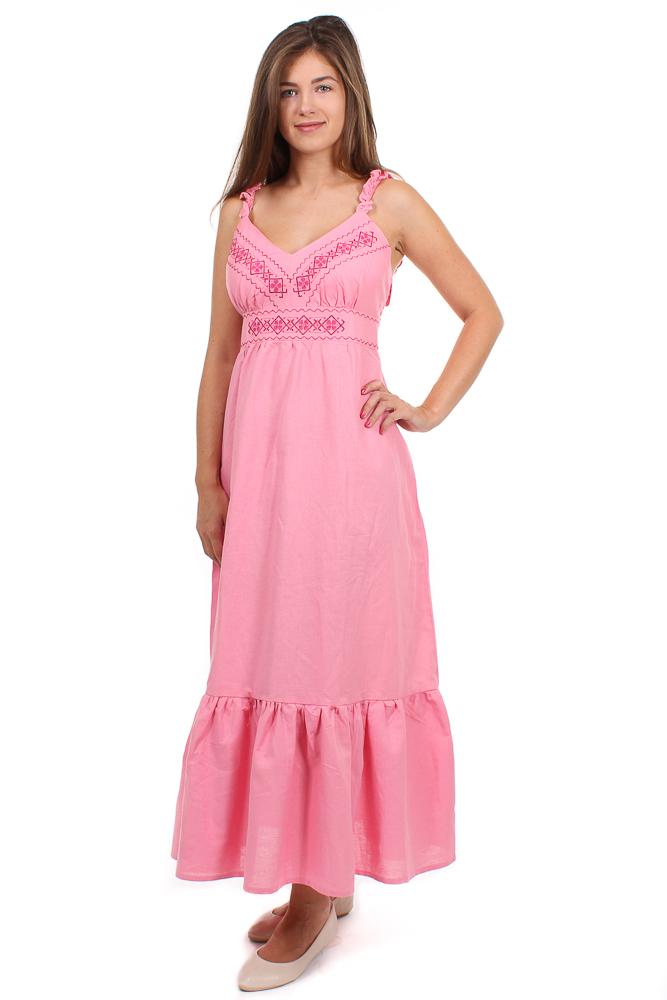 Льняное платье в славянском стиле Грация
