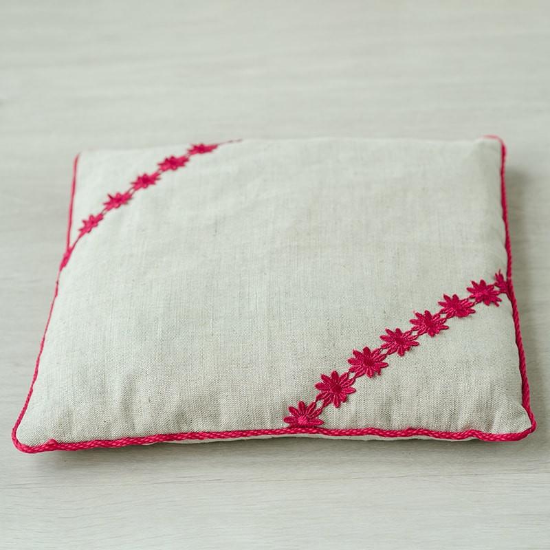 Подушка iv39907 (вишневая косточка, лен)
