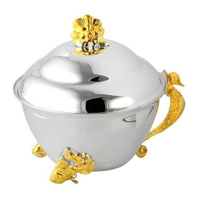 Купить Икорница серебряная Морской конек 930627ж