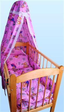 Набор в кроватку с одеялом и подушкой iv5748 (бязь)