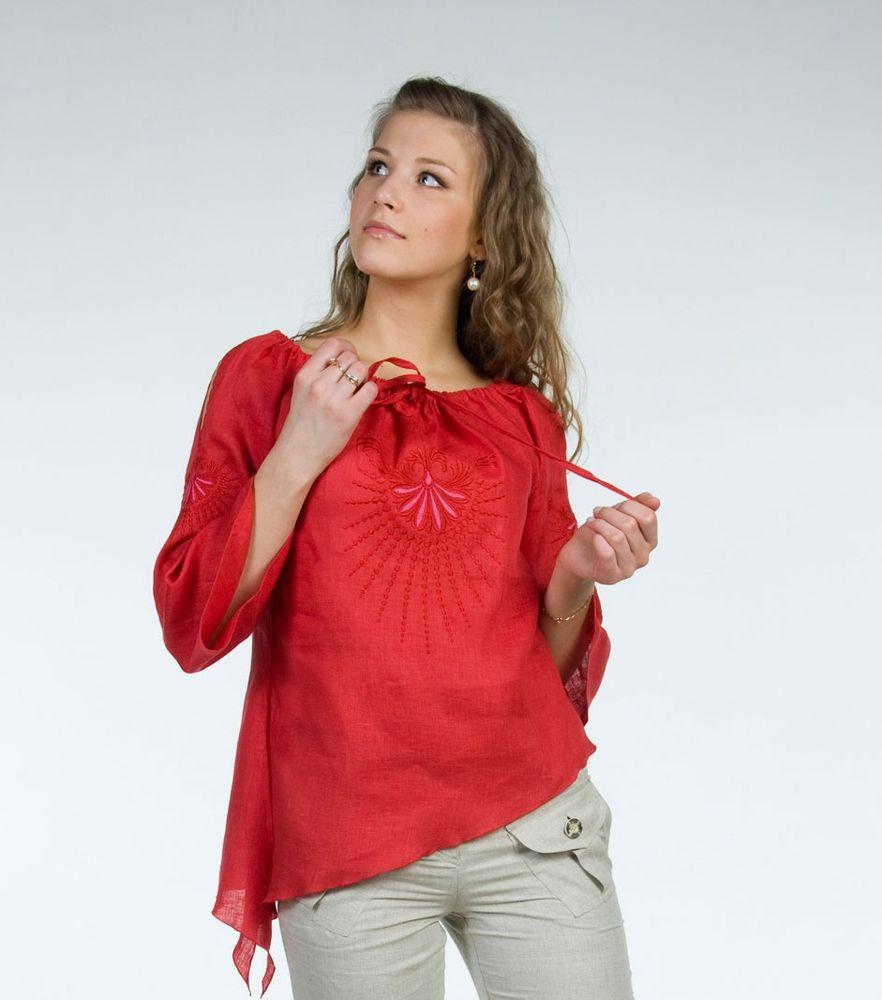 Блузка льняная модель