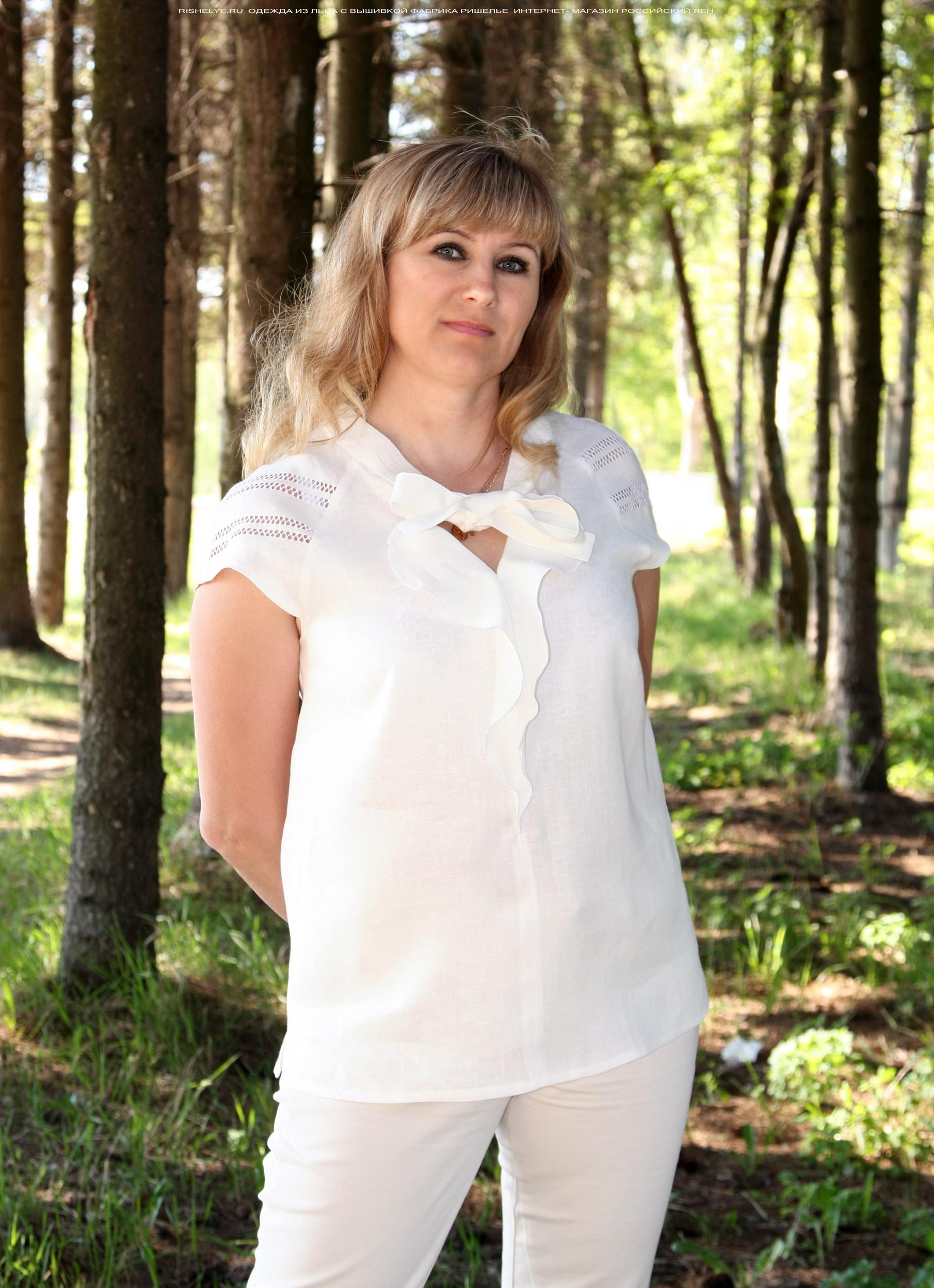 Блузка льняная iv40812