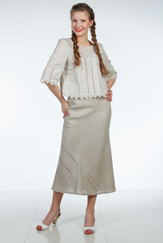 Блузка льняная iv3095