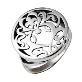 Кольцо серебряное iv9858