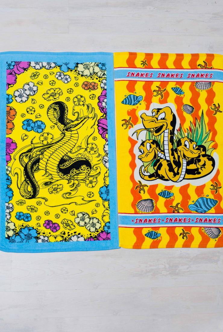 Полотенце махровое Веселые змейки (30х50)