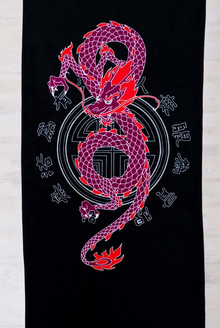 Полотенце махровое Дракон (70х140)