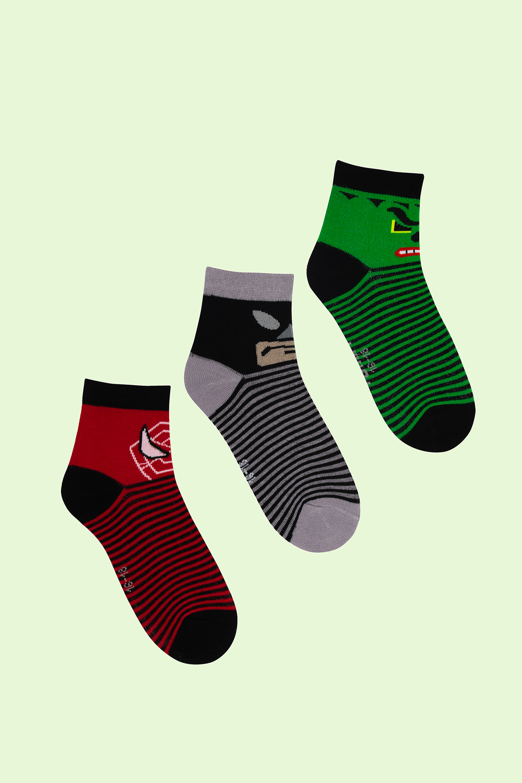 белье acoola носки детские 2 пары цвет ассорти размер 16 18 32114420052 Носки детские Герои (упаковка 3 пары) (16-18)