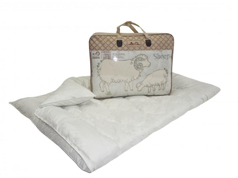 Одеяло iv74740 (овечья шерсть, тик) (Евро-1 (200*220))